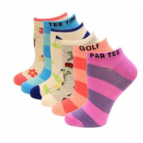 Women's Crew Socks - K Bell - Rugby Striped Six Pair PackPink Assorted (7-8.5)