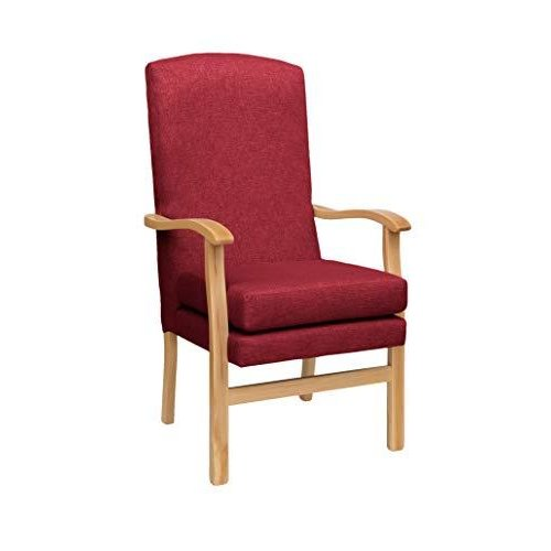 MAWCARE Deepdale Ortopaedic High Seat Chair - 21 x 20 Inches [Height x Width] in Highland Red (lc48-Deepdale_h)