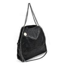 VK5326-2 BLACK - Shoulder Bag With Chain Handle