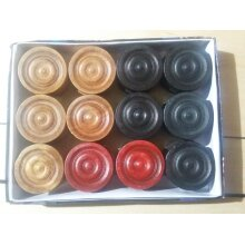 Wooden Carrom Board Counter Peices, Carrom Mens, Carrom Coins Gutti