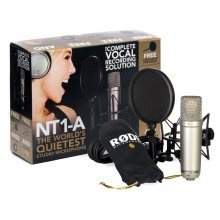Rode NT1-A Recording Pack, includes suspension, pop filter, cable & tutorial DVD