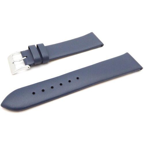 (Connecting Width 22mm) Premium Quality Navy Blue Colour Matt Finished Calf Leather Strap