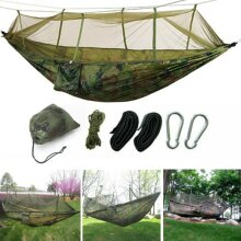 Jungle Parachute Hammock With Mosquito Net Military Bushcraft Double
