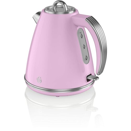 Swan SK19020PN, Retro 1.5 Litre Jug Kettle with 360 Degree Rotational Base, 3KW,