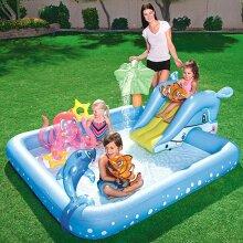 Children,s Water Slides Water Park, Outdoor Slide Backyard Waters Pools Toy