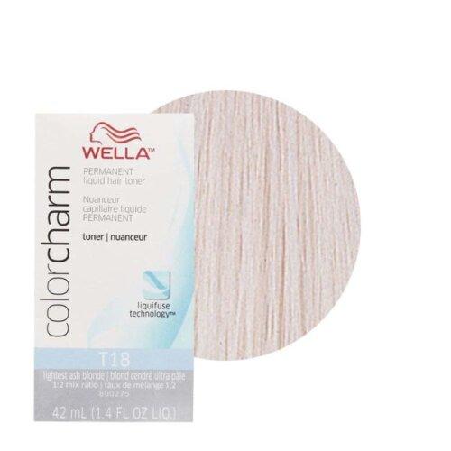 (T18 ONLY) Wella Color Charm T18 Lightest Ash Blonde Hair Toner