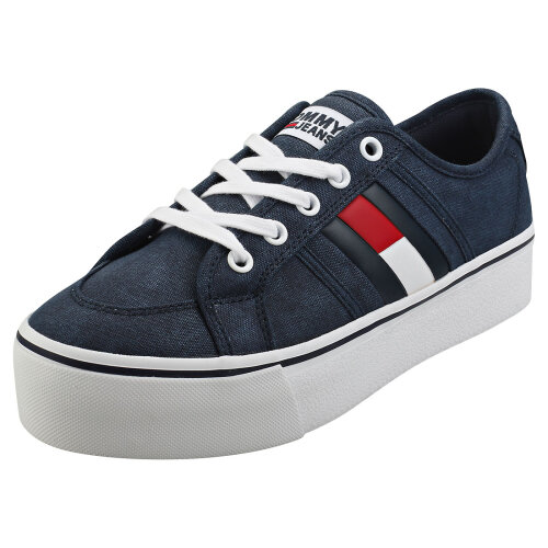 Tommy Jeans Flatform Flag Sneaker Womens Flatform Trainers