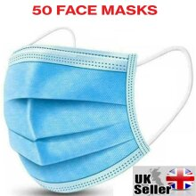 ONEBRAND® 3ply Disposable Surgical Face Masks x 50