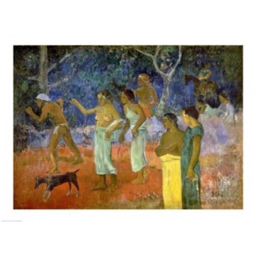 Scene From Tahitian Life 1896 Poster Print by Paul Gauguin - 36 x 24 in. - Large