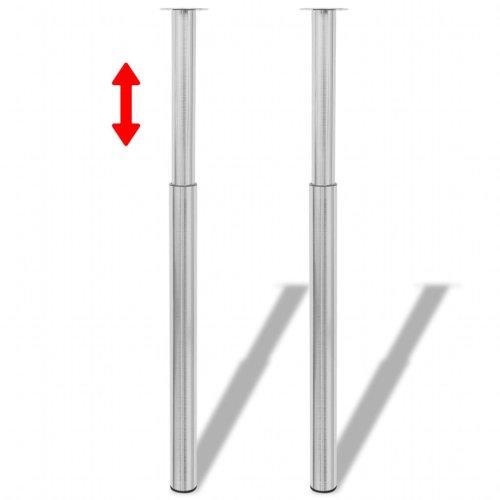 2 x 870mm Chrome Adjustable Kitchen Worktop//Unit//Breakfast Bar//Desk Table Leg Support 60mm Diameter