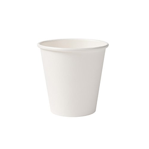 BIOZOYG Organic paper cups I disposable tableware drinking cups paper cups compostable and biodegradable cups I white, blank, environmentally...
