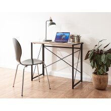 Bramwell Urban Design Space Saving Folding Writing Desk - Sonoma Oak & Black