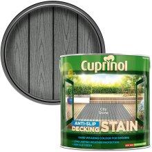 Cuprinol AntiSlip Decking Stain 2.5L City Stone