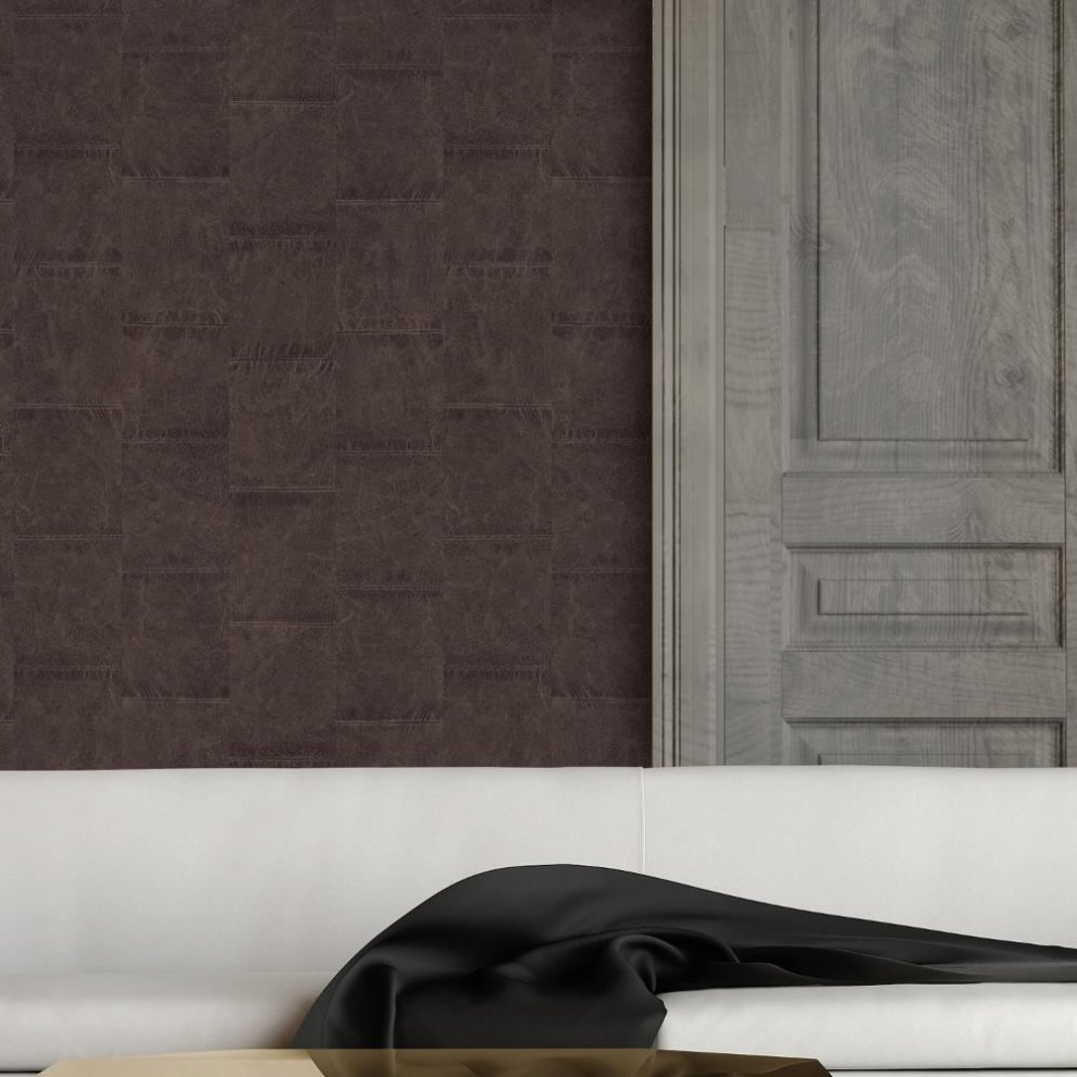 NEW AS CREATION DIAMOND PATTERN FAUX LEATHER EFFECT NON WOVEN TEXTURED WALLPAPER