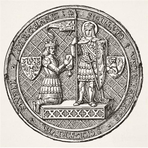 Seal of The University of Prague From Science & Literature In The Middle Ages Poster Print, 14 x 14