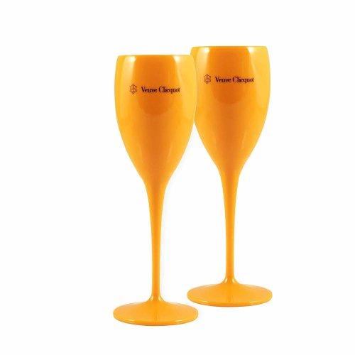 (1) Veuve Clicquot Orange Champagne Glasses