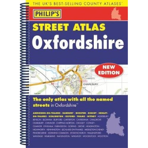 Philips Street Atlas Oxfordshire 5ED Spiral New Edition by Philips Philips