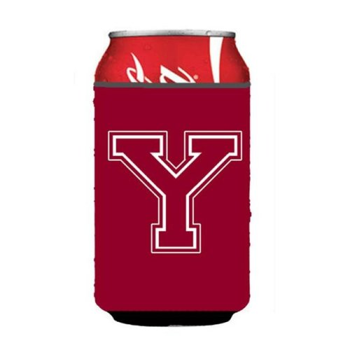 Letter Y Initial Monogram - Maroon And White Can Or Bottle  Hugger