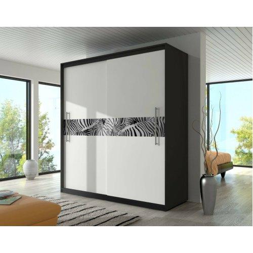 CHECO 'Zebra' Sliding Door Wardrobe - 204cm
