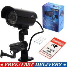 Fake Dummy CCTV Security Camera LED Light  Flashing