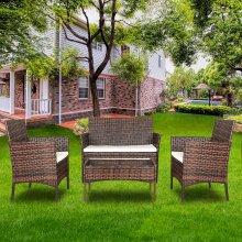 New 4-pieces Rattan Furniture Set