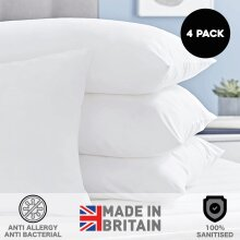 ULTRA FIRM FOUR PACK SUPER BOUNCE BACK PILLOWS BEDDING SET PACK OF 4