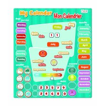 Bilingual French-English My Calendar Magnetic Activity Chart