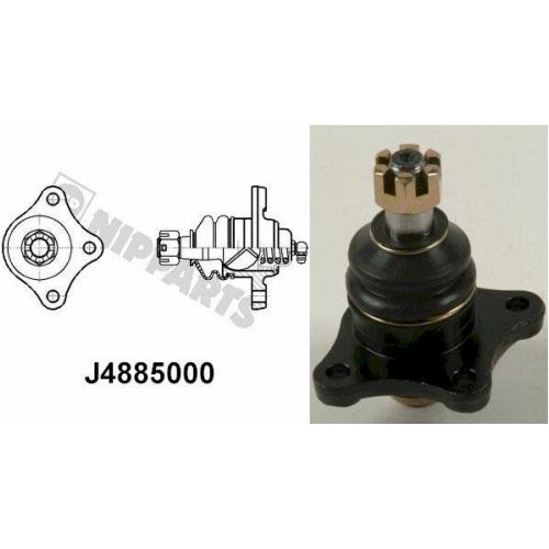 Nipparts Front Ball Joint J4885000 for Mitsubishi Shogun 3.5 Litre Petrol (10/97-03/00)