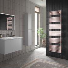UK Bathrooms Designer Blush Pink Towel Radiator