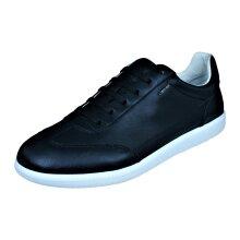 Mens Geox Trainers U Keilan B Nappa Leather Casual Shoes - Black