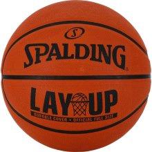 Spalding NBA Layup Outdoor Recreational Rubber Basketball Ball Orange