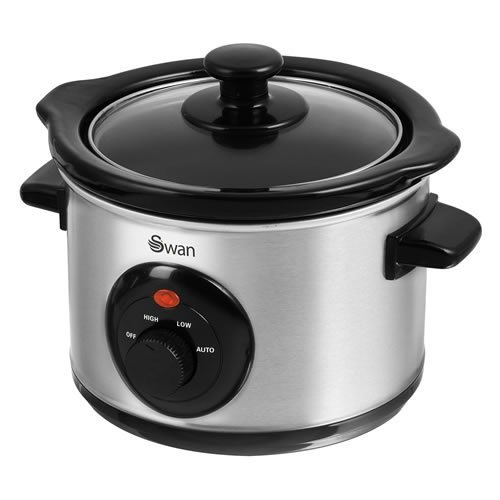 Swan Stainless Steel Slow Cooker 1.5 Litre - Silver