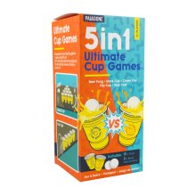 5 in 1 Ultimate CUP Games | Beer Pong, Stack Cup, Chase Cup, Flip Cup, and Slap Cup | Perfect For Games Nights & Parties