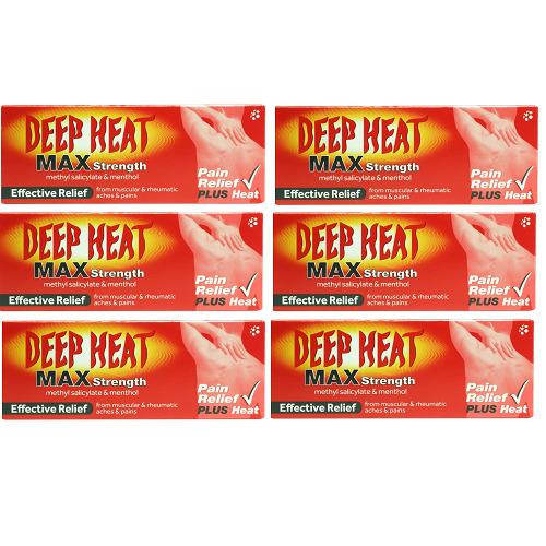 Deep Heat Max Strength Pain Relief Plus Heat 6x35g Expiry Jan 2023