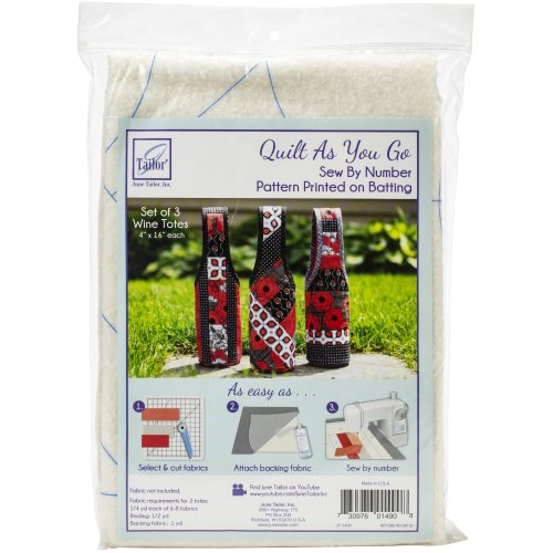 June Tailor Quilt As You Go Wine Tote-Assorted 3/Pkg