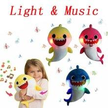 Baby Shark Light Singing Plush Toy Music Doll Gift