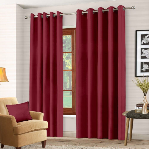 (Red ) Door Curtain Blinds 66x 84+Free Tie Back Décor