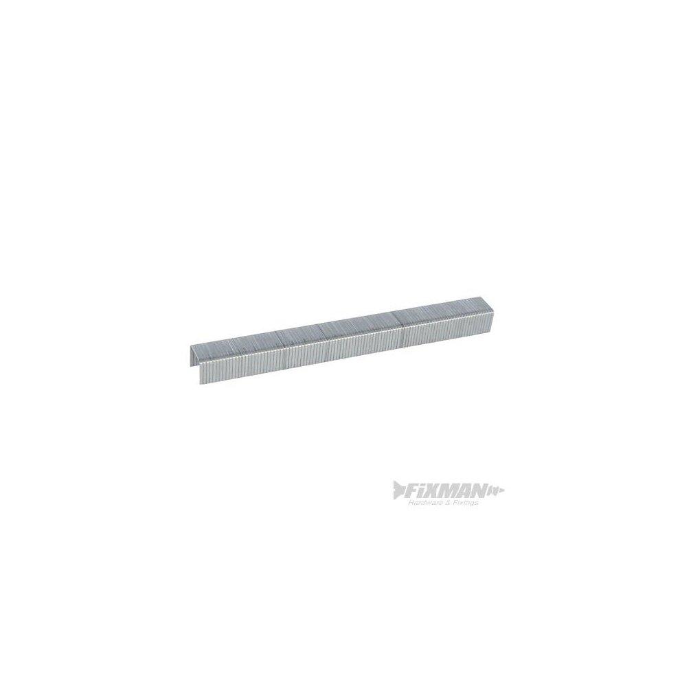 Fixman 470282 10j Galvanised Staples 11.2 x 8 x 1.16mm Pack Of 5000-5000pk