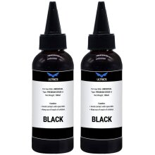 ULTRICS Refill Ink, 100ml Black Printer Ink Refill Kit, Universal Bulk Refillable Bottle of CISS System Compatible with Epson, Canon, Brother, Dell, H