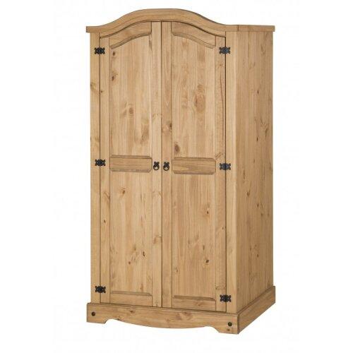Corona 2 Door Arch Top Wardrobe Solid Pine Bedroom Furniture