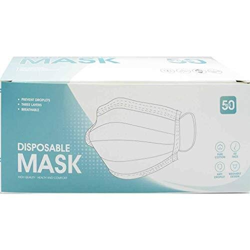 Ivrou Mouth and Nose Mask - Efficient Protection for Your Health - Contents 50 Pieces Blue