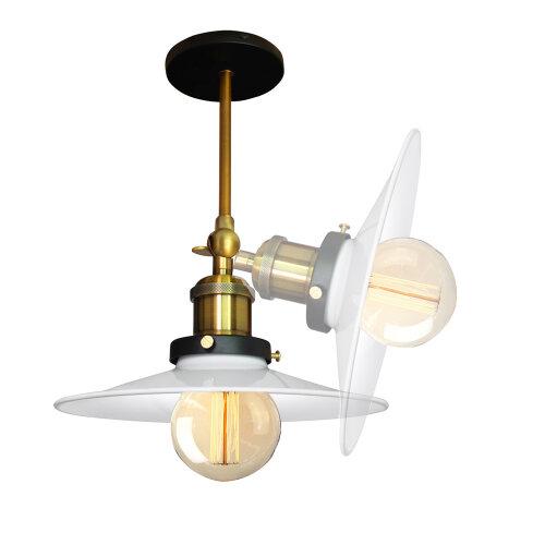 (Dia 22cm, White) Straight Wall Lamp Ceiling Light Flying Saucer Shape