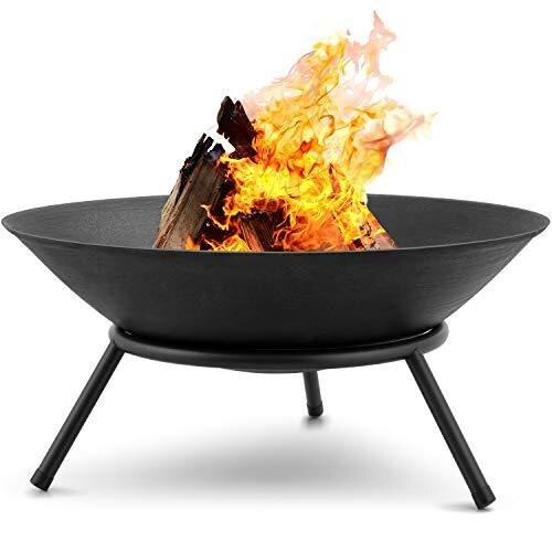 Amagabeli Fire Pits for Garden 22.4inch Premium Steel Fire Bowl Outdoor Fire Brazier for Garden BBQ Patio Heater Camping Portable Fire Basket Chimne