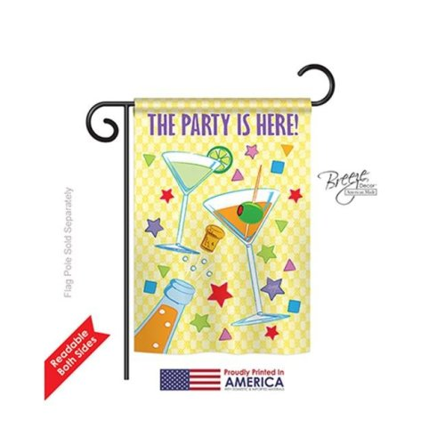 Breeze Decor 65027 Party 2-Sided Impression Garden Flag - 13 x 18.5 in.