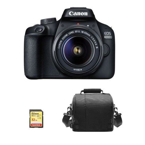 CANON EOS 4000D KIT EF-S 18-55MM F3.5-5.6 III + 32GB SD card + Bag