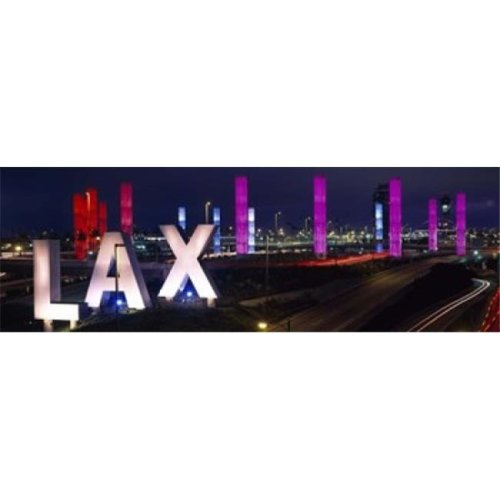Los Angeles Intl Airport Los Angeles CA Poster Print by  - 36 x 12