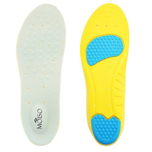 Medical grade memory foam insoles with metatarsal cushion and impact absorption