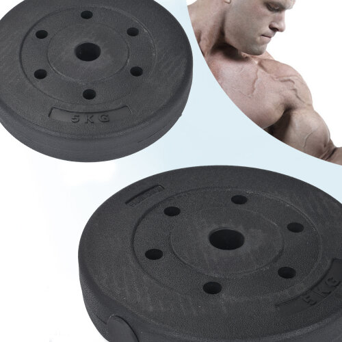 Weight Plates Set Vinyl 1 inch Standard 2x5kg Gym Home Weight Plates