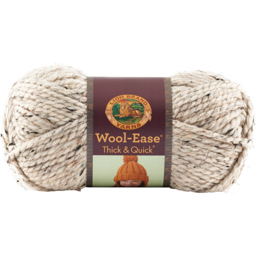 Lion Brand Wool-Ease Thick & Quick Yarn-Oatmeal