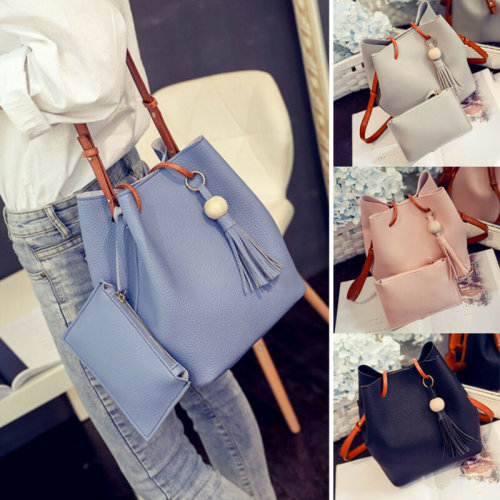 Women Designer PU Leather Large Tote Shoulder Bag Handbag Casual Ladies Bags